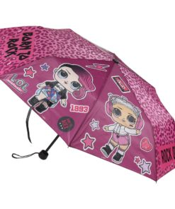 "Guarda Chuva LOL Encartar Rosa ""Born to Rock"""