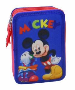 Estojo Mickey Completo Azul e Vermelho