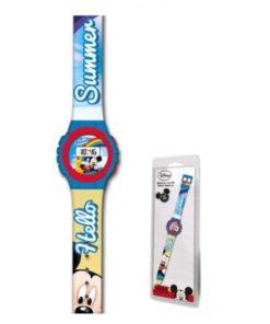 "Relógio Digital Mickey ""Hello Summer"""
