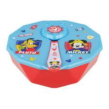Taça Mickey c/ Tampa e Colher Bombeiro