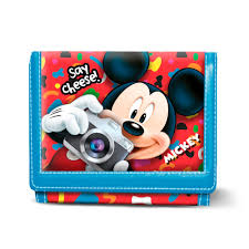 "Carteira Mickey Velcro ""Say Cheese"""