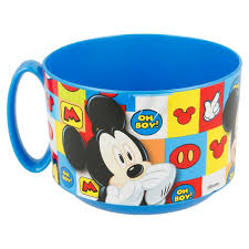Caneca Mickey Azul Plástica