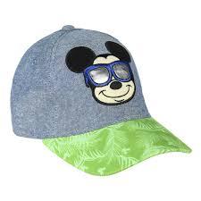 Boné Mickey c/ Óculos Jeans e Verde