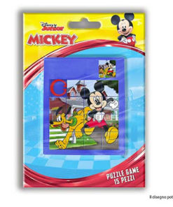 Puzzle Mickey e Pluto de Bolso