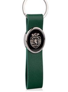 Porta Chaves Sporting Verde c/ Logo Metálico