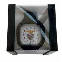 Relógio Sport Lisboa e Benfica Preto Fundo Branco