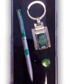 Conjunto Sporting Porta Chaves Pin e Caneta