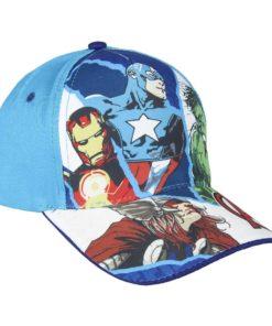 Boné Avengers Azul Claro 4 Personagens