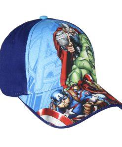 Boné Avengers Azul Escuro 4 Personagens