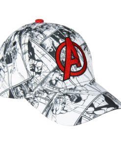 Boné Avengers Branco Banda Desenhada