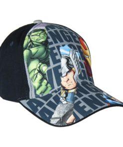 Boné Avengers Preto 4 Personagens