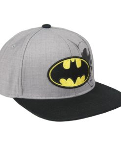 Boné Batman Cinzento c/ Simbolo Amarelo