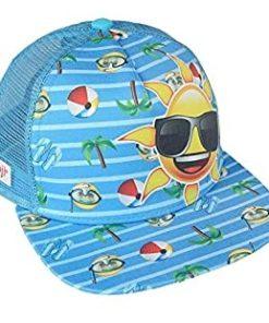 Boné Emoji Azul Tema Praia c/ Sol