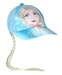 Boné Frozen Azul Elsa c/ Trança