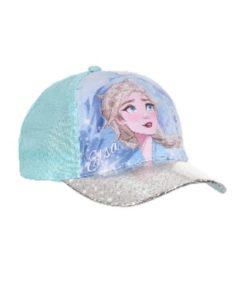 Boné Frozen Azul Elsa Pala Brilhante