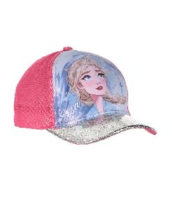 Boné Frozen Rosa Elsa Pala Brilhante