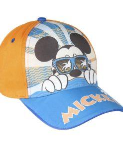 Boné Mickey Laranja c/ Óculos e Palmeira