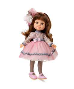Boneca My Girl Morena c/ Vestido Rosa e Cinza