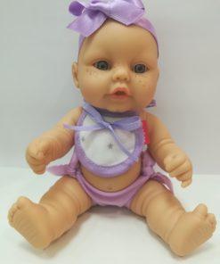 Boneco Mini Baby com Fita Roxa Perfumado