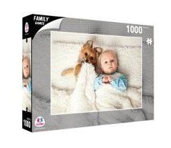 Puzzle Cão e Bebé Deitados 1000 Peças