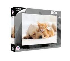 Puzzle Cão e Gato a Dormir 1000 Peças