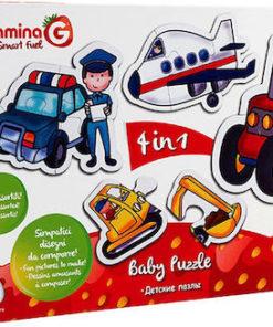 Puzzle de Bebé Máquinas 4 em 1