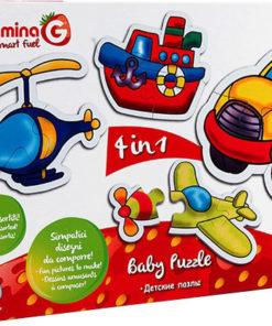 Puzzle de Bebé Veículos 4 em 1