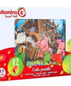 Puzzle em Cubos História 3 Porquinhos