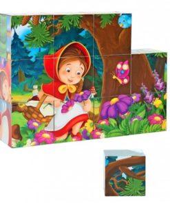 Puzzle em Cubos História Capuchinho Vermelho