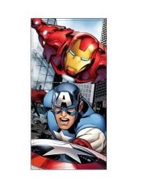 Toalha de Praia Avengers Cap America e Iron Man