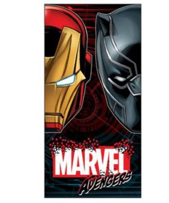 Toalha de Praia Avengers Iron Man e Pantera