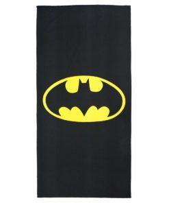 Toalha de Praia Batman Preta c/ Símbolo