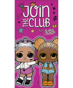 "Toalha de Praia LOL Rosa ""Join The Club"""