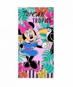 "Toalha de Praia Minnie ""Toucan Tropics"". Toalha de Praia Minnie ""Toucan Tropics"" muito absorvente e além disso muito útil. Medidas: 70 x 140 cm Minnie"