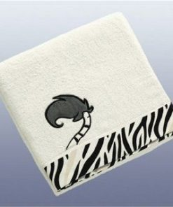 Toalha Nici de Banho Branca Zebra