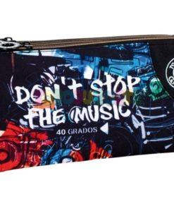 """Estojo 40 Graus Triplo """"Dont Stop The Music"""""""