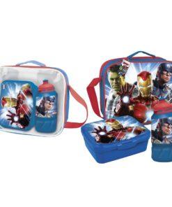Lancheira Avengers c/ Cantil e Sandwicheira
