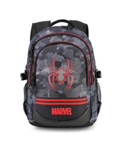 Mochila Escolar Spiderman Cinza 3 Fechos