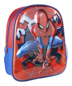 Mochila Spiderman Infantário Metalizada