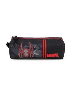 """Estojo Spiderman Quadrado Cinza """"Marvel"""""""