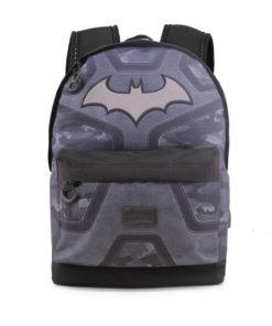 Mochila Escolar Batman Preta c/ Bolso Frontal