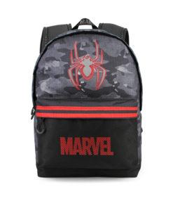 "Mochila Spiderman Cinza ""Marvel"" c/ Bolso"