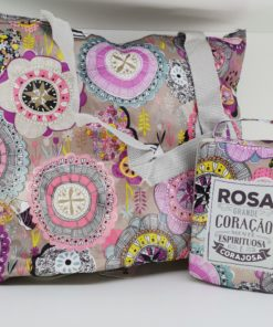 Bolsa Rosa H&H para Shopping
