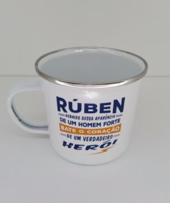 Caneca Rúben H&H de Esmalte