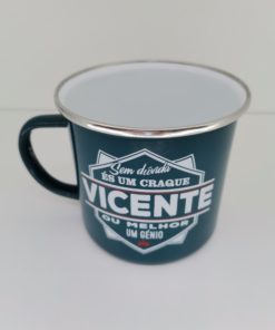 Caneca Vicente H&H de Esmalte
