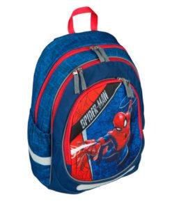 Mochila Escolar Spiderman Azul c/ 3 Bolsos