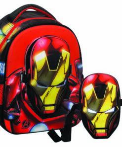 Mochila Infantário Iron Man c/ Máscara