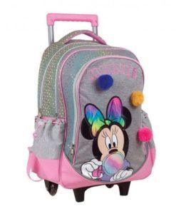 Trolley Escolar Minnie Cinzenta Pom Pom