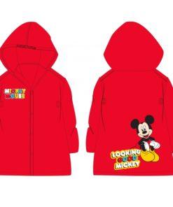 Capa de Chuva Mickey Vermelha c Capuz 2-4