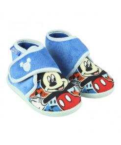 Pantufas Bota Mickey Azuis c/ Velcro (21/26)